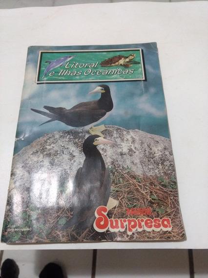 Álbum Nestlé Surpresa Litoral Ilhas Oceânicas(16 Cards)