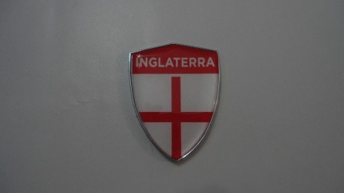 Escudo Auto-adesivo Cromado Resinado Inglaterra