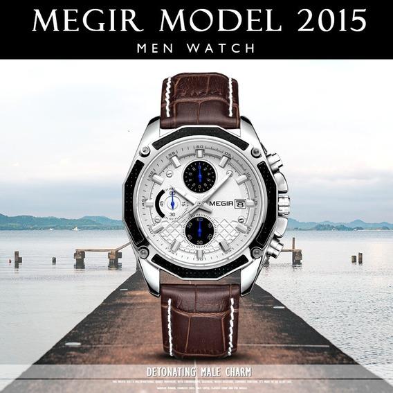 Relógio Quartzo Masculino Megir Original