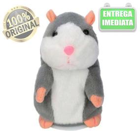 Rato Hamster Falante Brinquedo Pelúcia Repete O Que Escuta