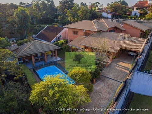 Imagem 1 de 30 de Casa Com 6 Dormitórios À Venda, 548 M² Por R$ 1.550.000,00 - Granja Viana - Carapicuíba/sp - Ca1756