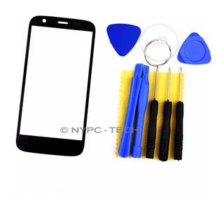 Vidrio Negro W/tools New Para Motorola Moto G Xt1032 Xt1036