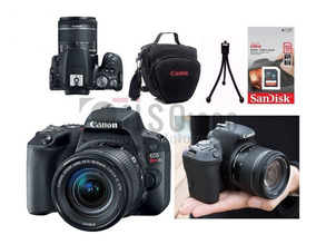 Câmera Canon Sl2 18-55 +32gb +nf-e Brinde Bolsa +mini Tripe