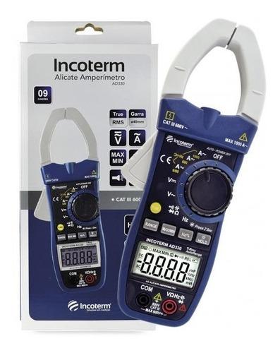 Alicate Amperimetro Digital Incoterm Ad330