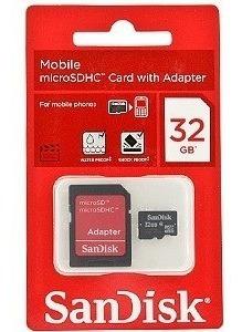 Cartão De Memória Micro Sd 32gb Sandisk Para Smartphone