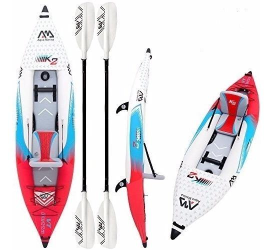 Kayak Inflable Betta K2 Single + Remos + Bolso / Aqua Marina