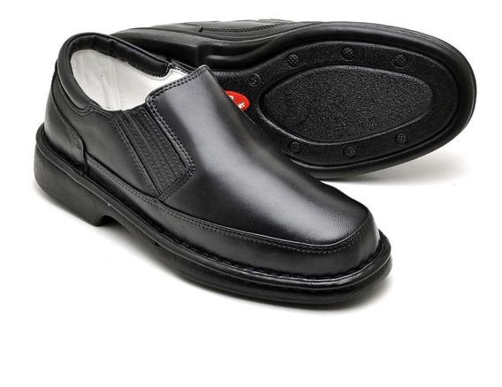 Sapato Ortopédico Masculino Tamanho Especial Em Couro 2009
