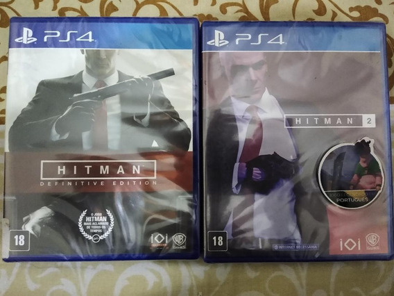 Ps4 - Hitman Definitive Edition + Hitman 2 - Mídia Física
