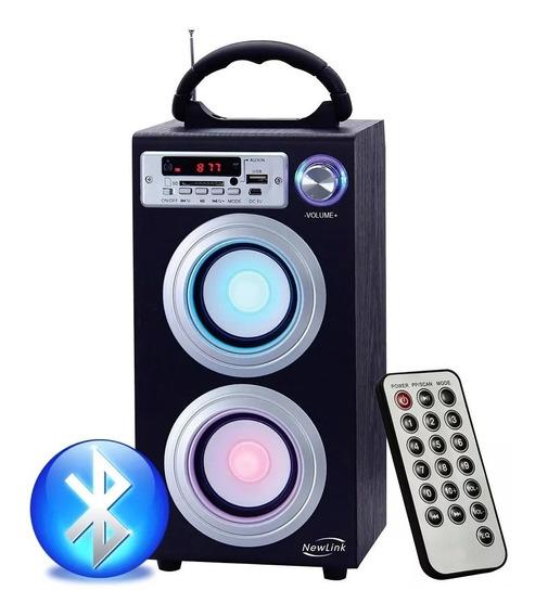 Caixa De Som Torre Bluetooth Portátil Usb Fm Sp106 - Newlink