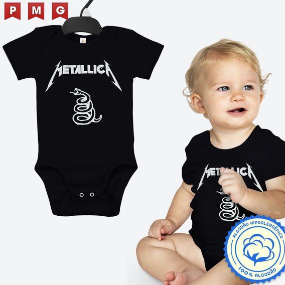 Body Metallica Bebê Banda Rock Roupinha Camiseta Infantil