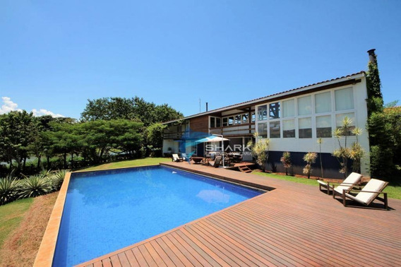 Fundo Para Represa, Luxuosa Casa Moderna Com 22034 M² - Si0052