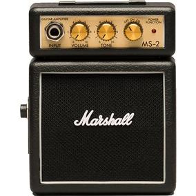 Mini Amplificador De Guitarra Marshall Ms-2r 127v Preto Por