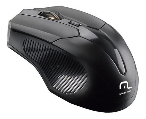 Mouse Sem Fio Usb Preto Mo221 2.4 Ghz 1600 Dpi Multilaser.