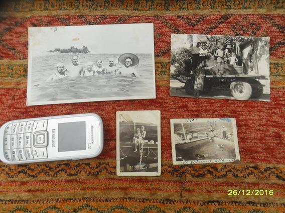Lote Antiguas Fotos Embarcación Barco Cosecha Vid Viñedos