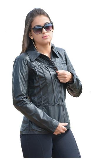 Jaqueta Feminina Caden De Couro Legítimo