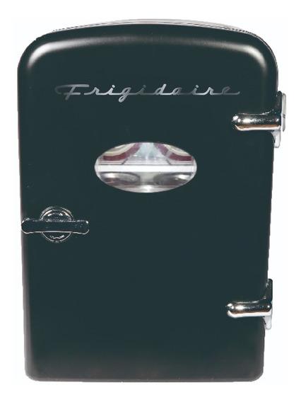 Mini Refri Nevera Portatil Negro 6 Latas Vintage Retro Casa