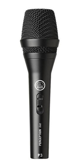 Microfone AKG P3 S dinâmico cardióide preto