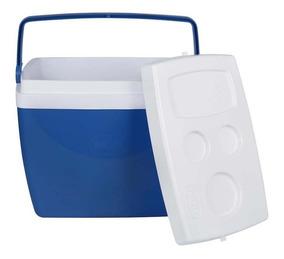 Caixa Térmica Cooler 34 Litros Com Alça E Porta Copos Cores