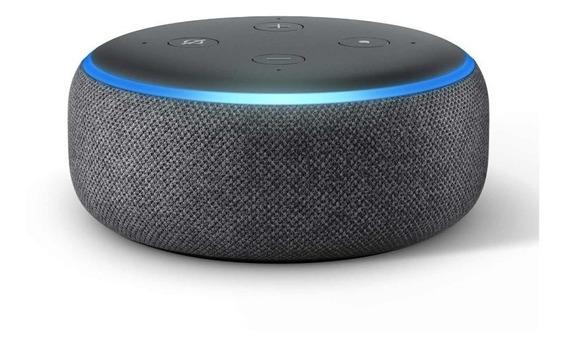 Smart Speaker Amazon Com Alexa Preto - Echodot