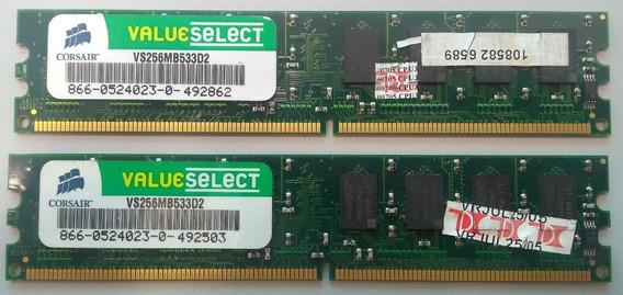 Memória Corsair 256mb Ddr2-533 Vs256mb533d2