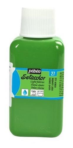 Imagen 1 de 1 de Pebeo Setacolor Telas Ligeras Pintura 250 Mililitros, Verde