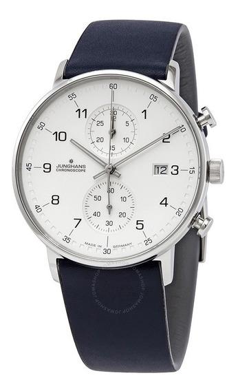 Reloj Junghans Alemán Cuarzo Crono 41/4775 Entrega Inmediata