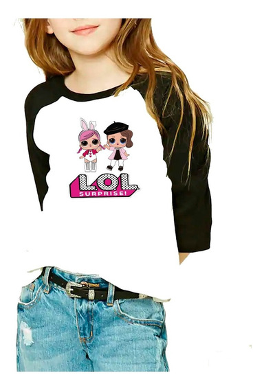 Playera Raglan Niña 2 Lol Surprise