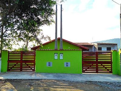 Casa Nova Com 2 Dormitórios, Verde Mar Itanhaem -ref S333
