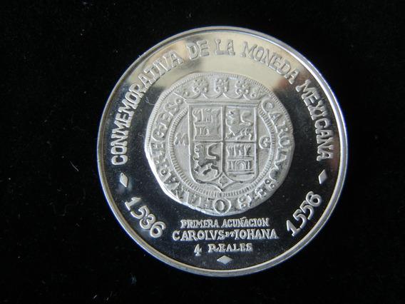 Medalla Sonumex Carlos Y Juana 1971 4 Reales 1536 Plata