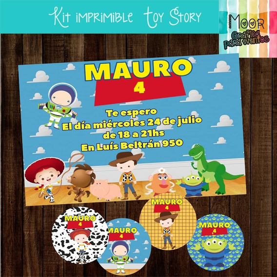 Kit Imprimible Digital Toy Story Candy Bar Personalizado