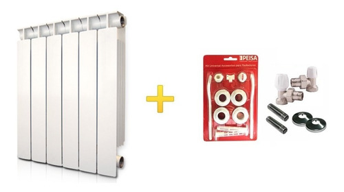 Radiador Peisa T500/80 8 Elementos + Kit Instalación