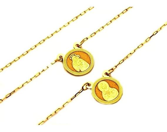Corrente Masculina Ouro 18k Escapulário 60cm 1826