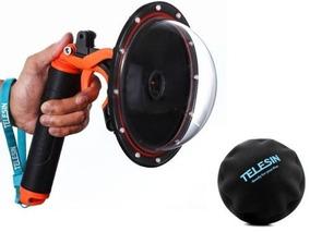 Dome Telesin 6 Gopro Hero 3 4 + Bastão Flutuante Com Gatilho
