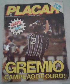 Grêmio Revista Placar Campeão Brasileiro 1981 Com Poster