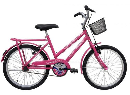 Bicicleta Cairu 20 Feminina Genova Rosa