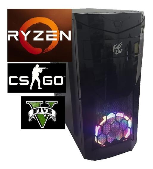 Cpu Gamer Amd Ryzen3 2200 Vga Vega 2gb 16gb Ram Ssd 240gb
