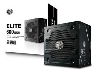 Fuente De Alimentacion Pc Cooler Master Elite V3 600w 120mm