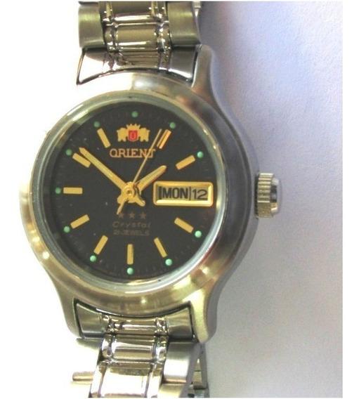 Relógio Orient Automático Feminino Pequeno Aço Fnq05006d9