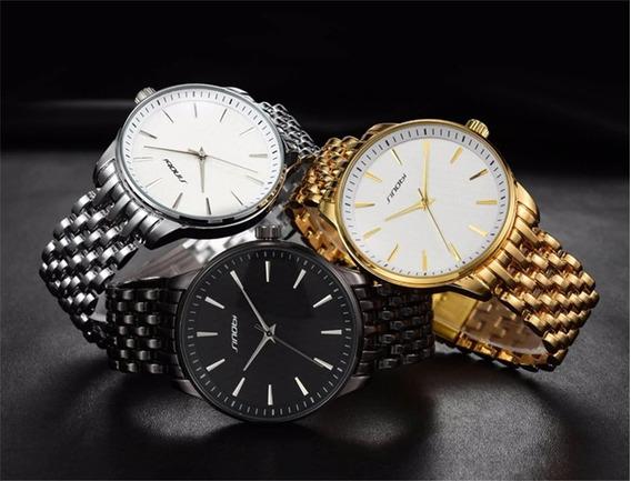 Relógio De Pulso Masculino De Luxo Sinobi 12x S/ Juros