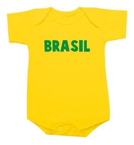 Body Da Copa 2018 Brasil Seleção Brasileira Ou Camiseta Inf