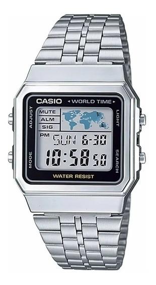 Relógio Casio A500wa-1df Prata Unissex Vintage Original