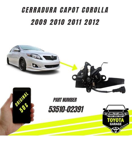 Imagen 1 de 5 de Cerradura Capot Corolla 2009 2010 2011 2012 Original