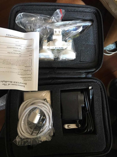 Óculos Cirúrgico Lupa 2,5x 420mm Led Medico Dentista C/ Case