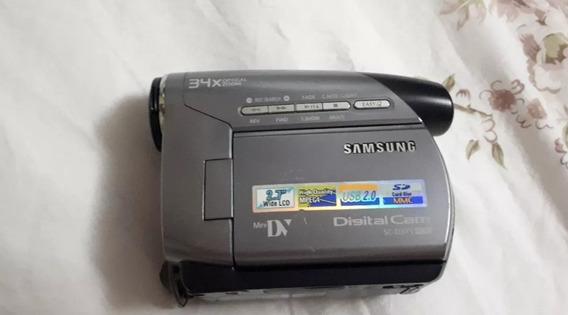Filmadora Samsung Minidv Sc D375 No Dinheiro 350