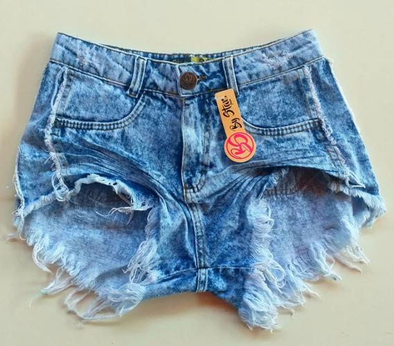 Shorts Jeans Feminino Cintura Alta Hot Pant
