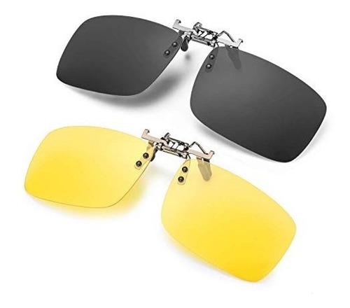 Imagen 1 de 6 de  Gafas De Sol Con Clip Para Anteojos Graduados