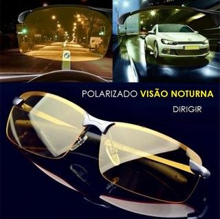 Óculos Para Dirigir, Noite Ou Dia, Lentes Amarelas Ideal Para Direção, Visão Noturna Polarizado Óculos Piloto