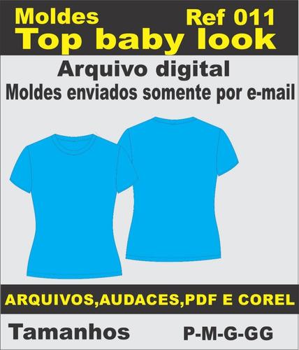 Moldes De Top Baby Look