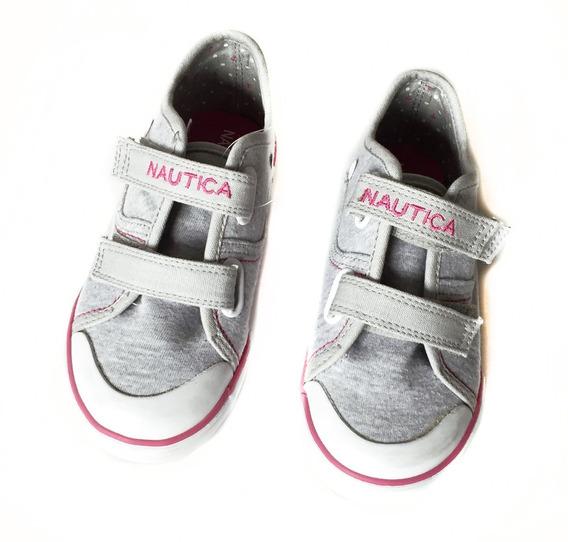 Zapatillas Nautica Con Abrojo Talle 10 Usa Nena Nuevas