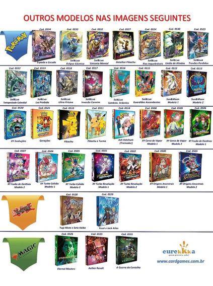 Album Pasta Tipo Fichário Pokémon Magic Yugioh C/ 10 Folhas